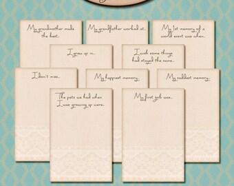 Digital Scrapbook: Journaling Card Prompts, In My Day II