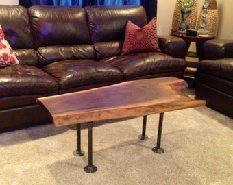modern coffee table live edge coffee table with blue resin