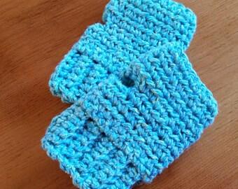 Gloves Girls Fingerless mitts crocheted kids