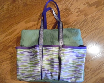 Green & purple dance bag