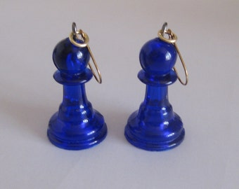 Chess Earrings. Chess Jewellery. Pawn Earrings. Pawn Jewellery. Board Game Jewellery
