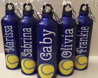 Personalized Aluminum Water Bottle - great for sports, tennis, soccer, cheerleading, football, baseball, softball, hockey