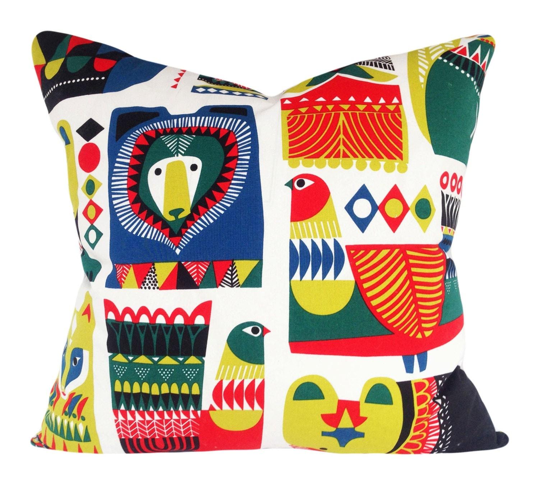 Marimekko Throw Pillow Covers : Marimekko Owl Finland Kukkuluuruu Decorative Pillow Cover