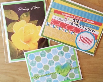 3 Card Bundle - Thinking of You, Birthday Card, Blank Greeting Card