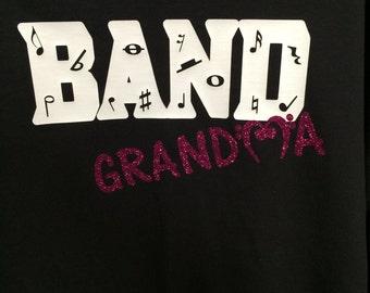 Band grandma shirt! Marching band grandma, Nana, GiGi, MiMi, Granny, MeMaw, Nonny