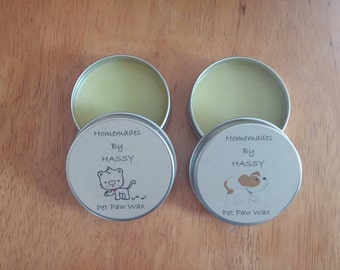 Dog Paw wax, dog paw balm, pet soothing balm, cat paw wax, cat paw balm, nose balm, pet paw protection