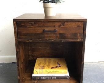 Mid century modern inspired nightstand table