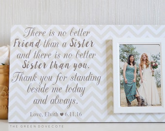 Wedding Gift For Sister - Gift For Her - Birthday Gift For Sister - Personalized Gift - Big Sister Wedding Gift - Custom Wedding Frame