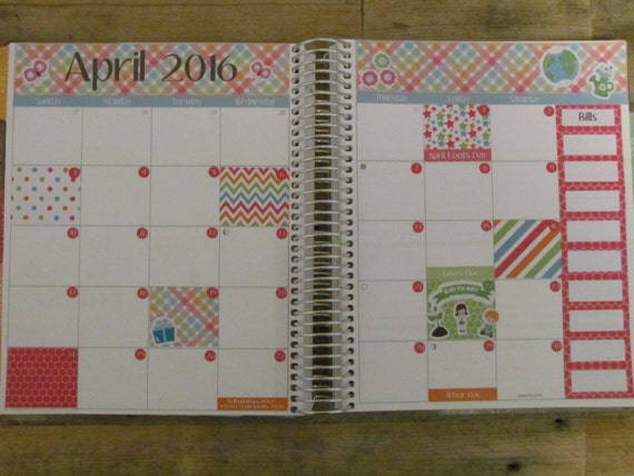Calendar Planner Erin Condren : Erin condren planner stickers monthly set by