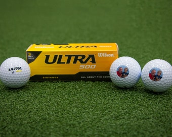 Customized Wilson Ultra Photo Golf Balls