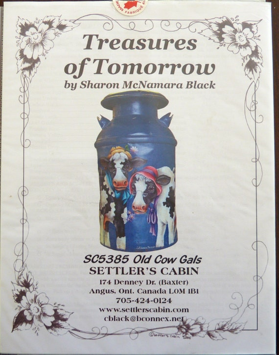Tole Painting Pattern Packet Old Cow Gals Treasures Of