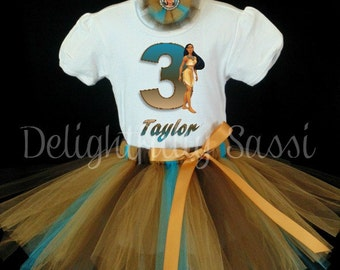 Pocahontas Birthday Tutu, Disney Princess Tutu, Girl's Tutu, Pocahontas Tutu Set, Birthday Tutu Set, Disney Birthday Tutu