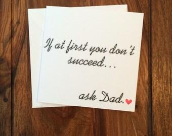 Father's Day Card, Dad Card, Daddy Card, Funny Card, Birthday Card