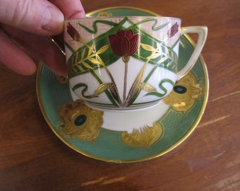 Vintage to Antique Czechoslovakia Carlsbad Cup and Saucer