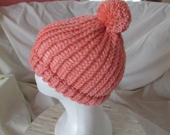 Toddler's hat; Toddler's toque; Loom knit hat for toddler's; loom knit toque; loom knitting