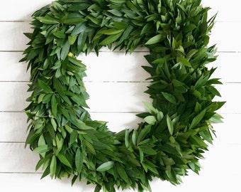 Fresh Square Bay Leaf Wreath