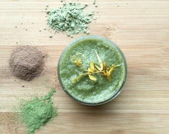 Herbal Face Scrub w. Active Botanicals | Anti Aging Facial Scrub for Sensitive Skin | Vegan Face Scrub for Dry Skin | Organic Skin Care