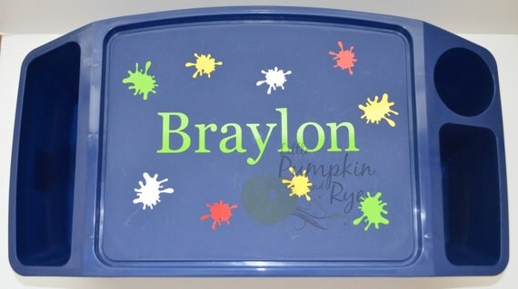 Color Splats Personalized Kid S Lap Tray By
