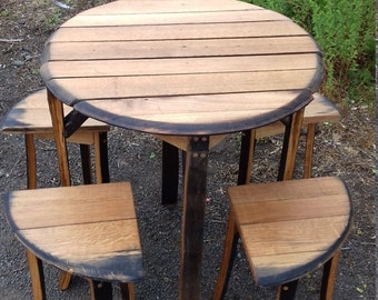 Quarter Stool Table Set
