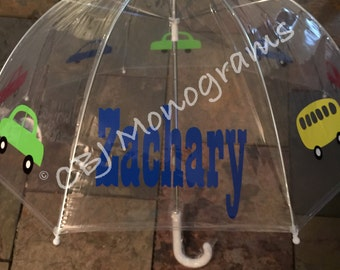 Children's Personalized Clear Dome Umbrella, Christmas Gift, Easter Basket Gift, Birthday Gift
