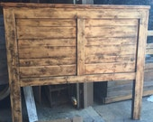 The Festival Headboard- sunfaded, rustic wood. Weathered - Distressed- Magick - King, Queen, Full, Twin. Neutral + Reversible