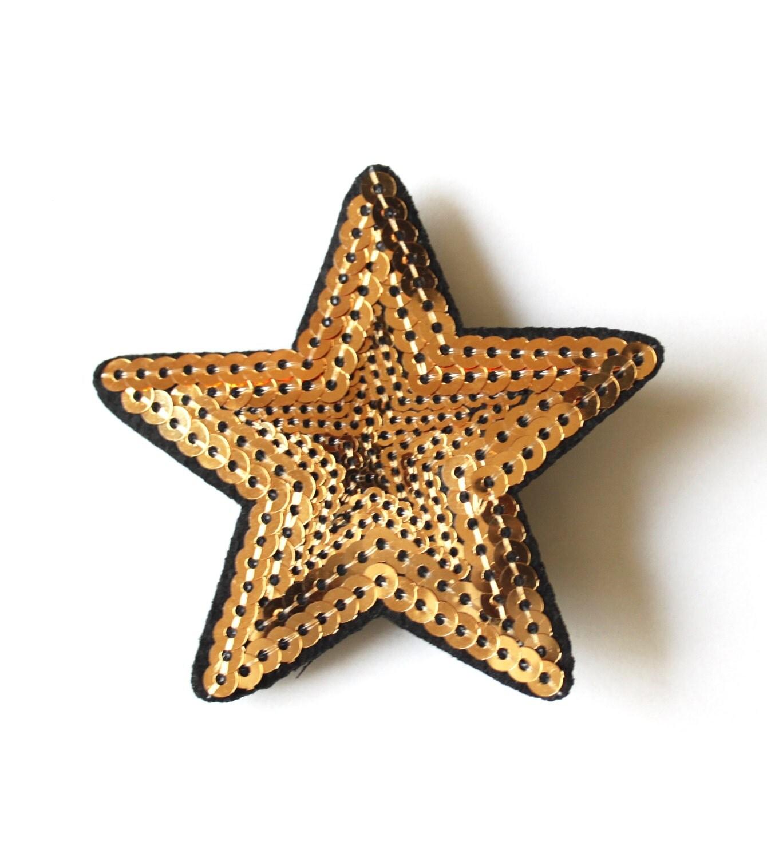 Gold sequin star Star gold hair clip silver star hair clip