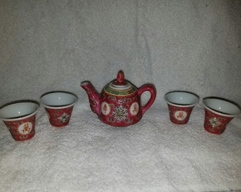 Vintage Miniature Teaset - Zhongguo Jingdezhen