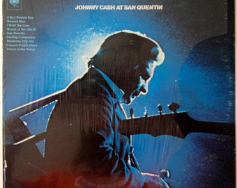 Johnny Cash  - At San Quentin LP Vinyl Record Album, Columbia - CS 9827, Country, Rock, 1969, Original Pressing