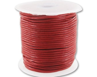 Genuine Leather cord 1mm Red