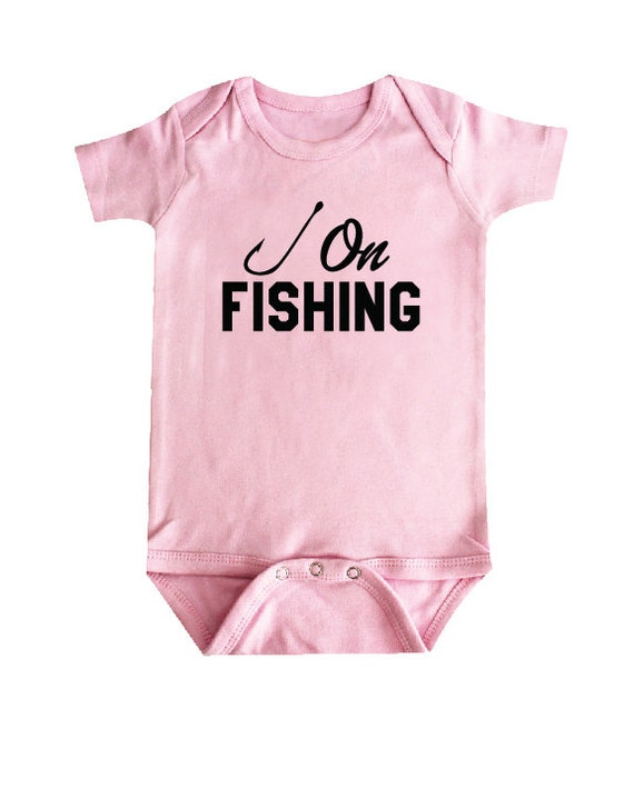 Hook Fishing Baby Clothes Bodysuit Shower Gift