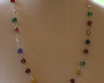 Wire Beaded Necklace