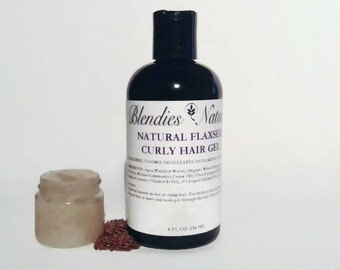Natural Flaxseed Curly Hair Gel 16oz bottle