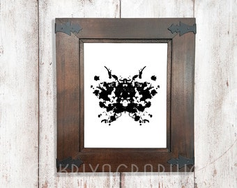 psychology rorschach style black and white abstract art rorschach art ink blot rorschach inkblot test poster abstract art abstract print