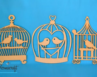 Bird cage, made of wood, wedding decoration, theme party