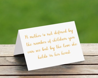 Miscarriage Card/Mothers Day Card/Infant Loss Card/Infant Loss/Sympathy Card/Memorial Card