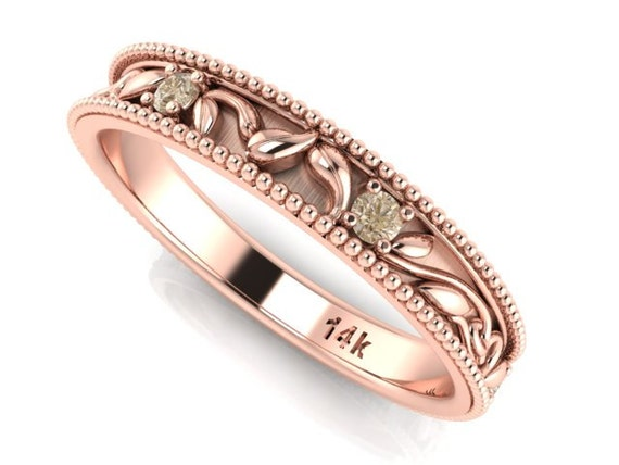 Sale rose gold wedding rings Rose gold and by BridalRings on Etsy