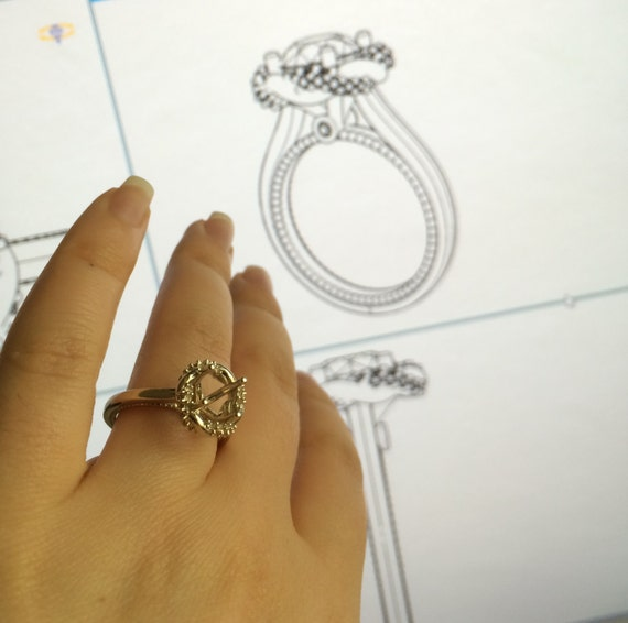 custom made design your own engagement ring custom by