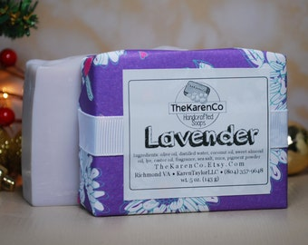 Lavender, Cold Process Soap, Vegan Soap