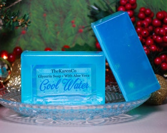 Cool Water, Glycerin Soap, Aloe Vera Soap