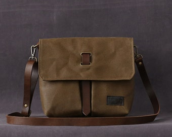 Waxed canvas bag CHLOE brown