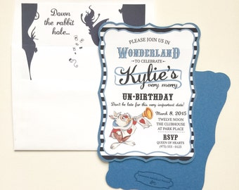 Alice In Wonderland Invitation by Amanda Michelle Design