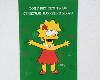 VTG Lisa Simspon Christmas Card