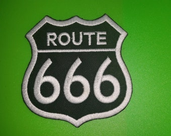 "Machine Embroidered Patch ""Route 666"""