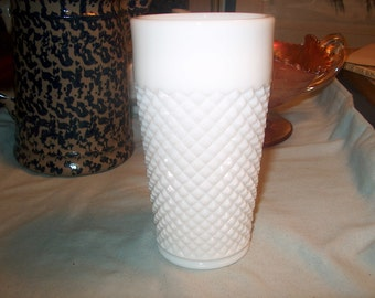 8 Vintage Westmoreland Milk Glass Glasses, English Hobnail (Price for All),WAS 160.00 -  40% = 96.00