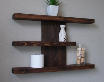 Modern Rustic 3 Tier Wall Shelf