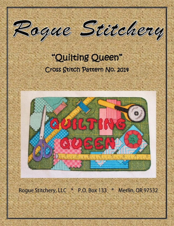Cross Stitch Pattern - Quilting Queen (pdf for download ...