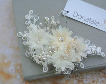 SALE Wedding hair comb ,Wedding Hairpiece, Bridal Headpiece, Bridal Hair Flowers,Bridal hair piece ,Bridal Hair comb- RAFAELLA
