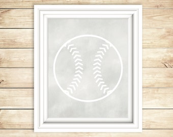 Grey + White Baseball Nursery Decor