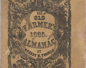 Old Farmer's Almanac, 1885, fair condition