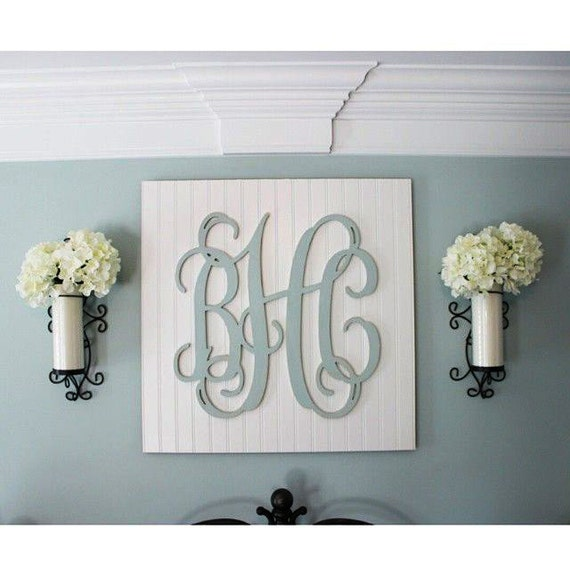 28 wood monogram letters nursery decor wooden - Wood letter wall decor ...